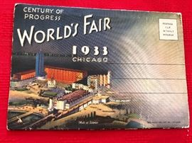 1933 Century of Progress Post card Souvenir