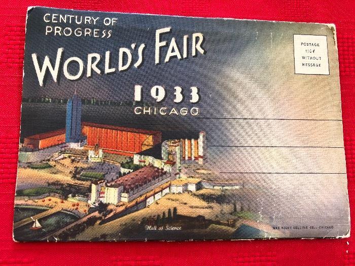 1933 Century of Progress Post card Souvenir
