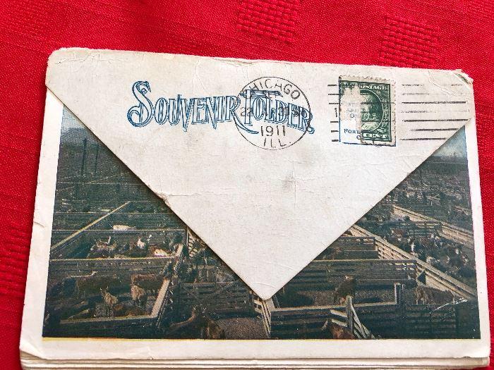 Chicago 1911 Souvenir Post cards Folder