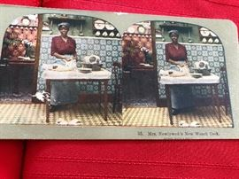 "ANTIQUE STORY STEREOVIEW CARDS""MR & MRS NEWLYWED'S NEW FRENCH COOK""UNDERWOOD"