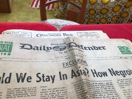"Chicago Daily Defender Headlines ""should we stay in Asia? How Negro's feel"""