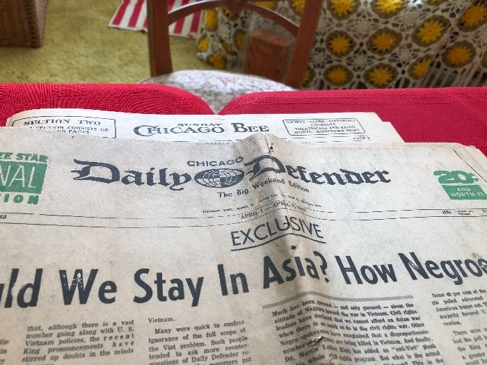 """Chicago Daily Defender Headlines """"should we stay in Asia? How Negro's feel"""""""