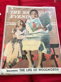 "The Saturday Evening Post 2/3/1940 Beginning ""the life of Woolworth"""