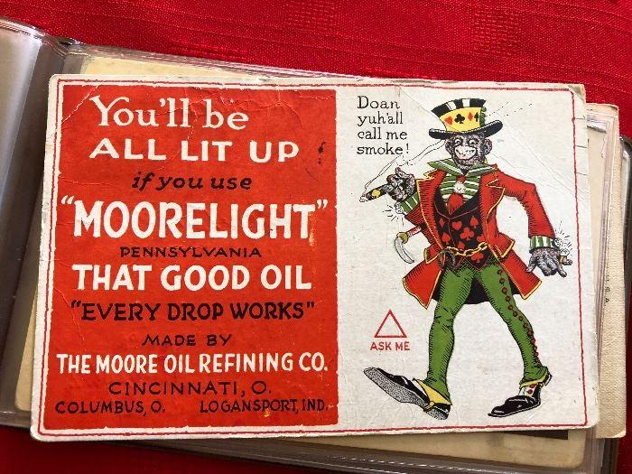 """Moorelight"" Advertising post card"