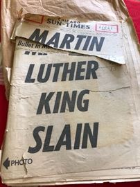 Chicago Sun Times Historical Paper Martin Luther King Slain