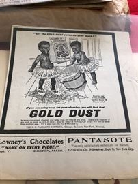 Gold dust advertising