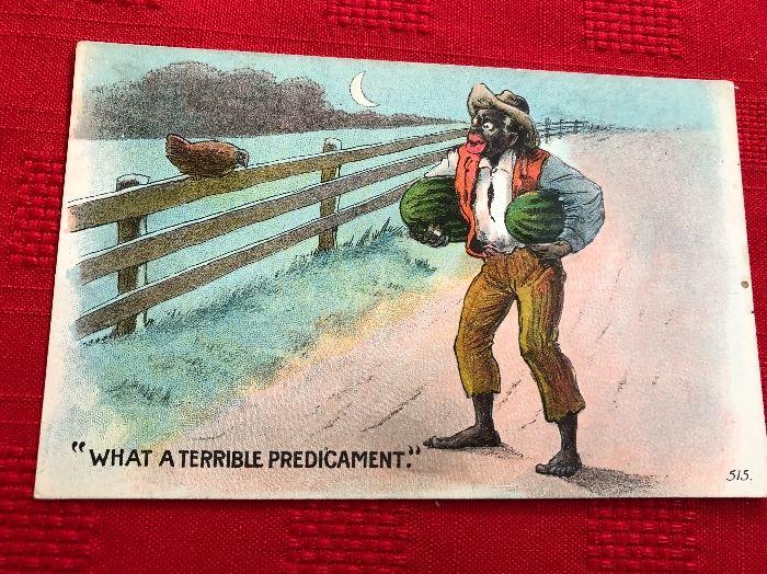 "post card ""What a Terrible Predicament"""