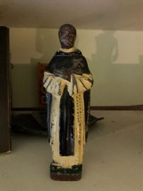 Cast Iron African American Priest