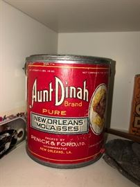 Aunt Dinah Brand Pure New Orleans Molasses tin