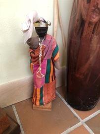 African Kenyan Woman statue