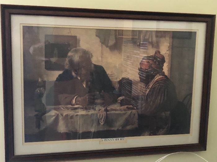 """""""A Penny Short"""" Art print Matted and Framed By Harry Roseland"""