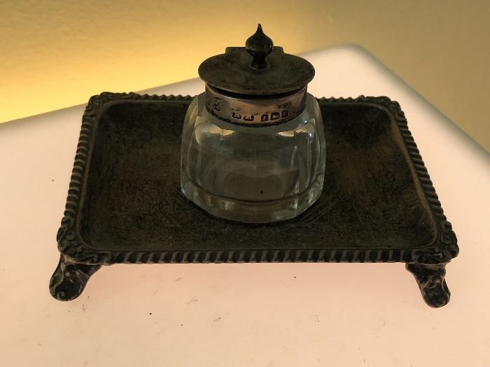 Antique Sterling Ink Well