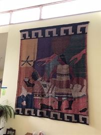 10 x 12 African hand woven tapestry/wall hanging