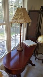 Mint Condition Window Table with Lamp