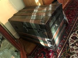 Antique Steamer Trunk $ 140.00