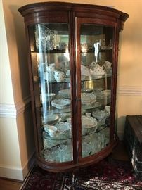Antique Curved Glass Display Case $ 420.00