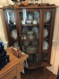 Antique Corner Glass Display $ 380.00