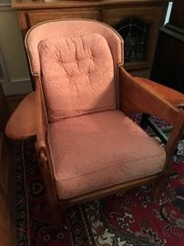 Vintage Wood / Upholstered Chair $ 80.00