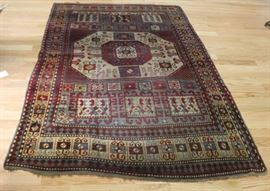 Antique and Finely Hand Woven Kazak Style Carpet