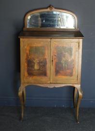 Antique Vernis Martin Paint Decorated Music