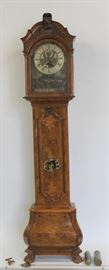 A Dutch BurrWalnut Longcase Clock With Automoton