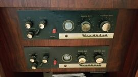 Heathkit components in the cabinet