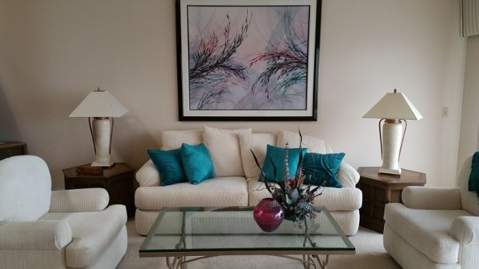Gorgeous and perfect contemporary living room furnishings, with a few Mid Cen items too