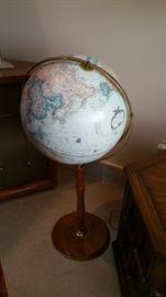 standing world globe