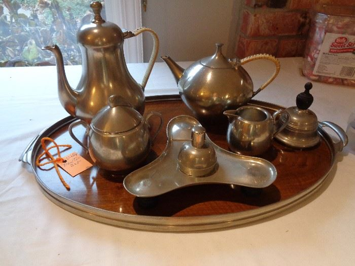 pewter, vintage set