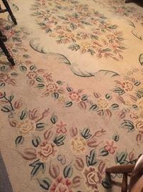 huge hooked floor rug