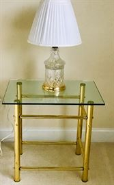 Brass/Glass Nightstand