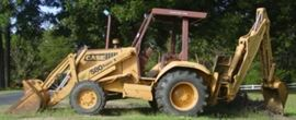 Side View Of Backhoe