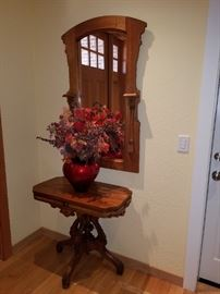 Antique Mirror and Antique Entry Table