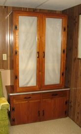 Tall Wood Cabinet