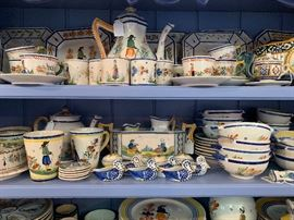 Collection of Quimper Pottery