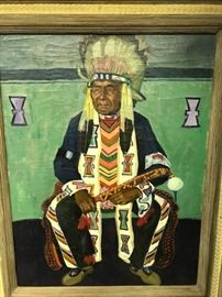 Chief White Cloud by Cameron Booth 1923