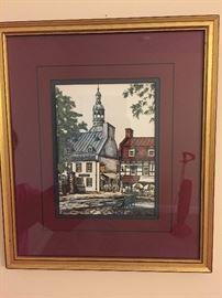 Quebec City Mid Century Framed Art