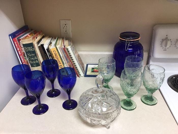 Cookbooks/Cobalt Blue Glasses