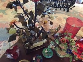 Collection of Gemstone Floral Trees