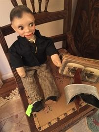 "Old Ventriloquist ""Dummy"" ,  Antique Stereoscope Viewer"