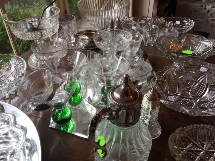 Large Selection of Cut Glass and Crystal