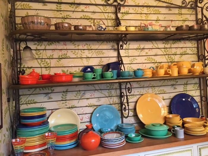 Large Collection of Vintage Fiesta Ware Dishes