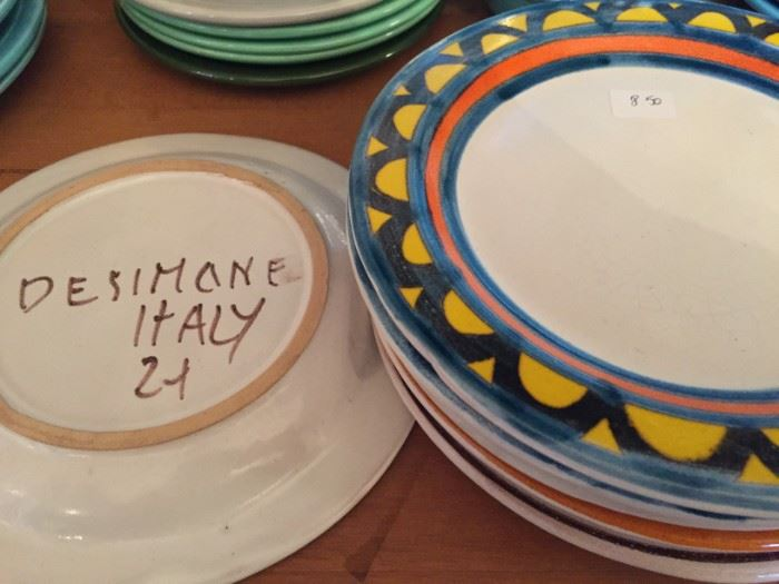 DeSimone Hand Painted Plates