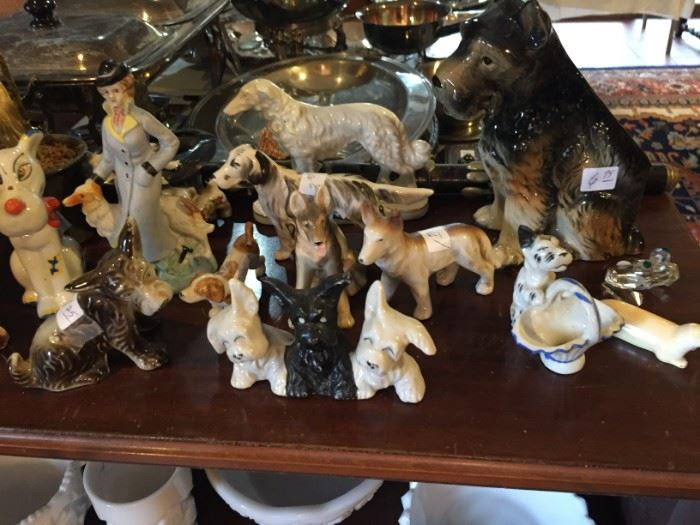 Collection of Vintage Porcelain Dogs
