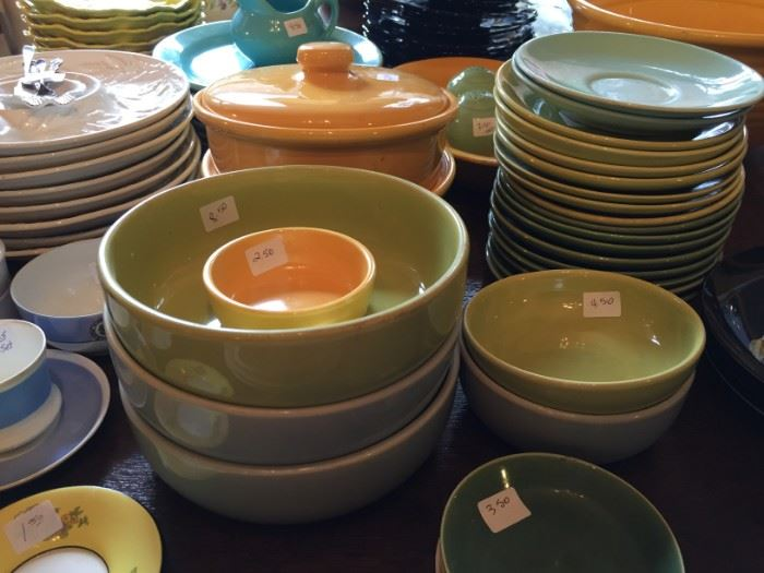 Large Collection of Bauer Dishes