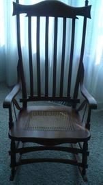 FANCY OLD ROCKING CHAIR, VERY NICE   TO SIT IN AND ROCK