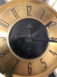 Mid Century Welby clock starburst atomic wall clock