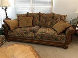 Sofa and love seat custom paisley print