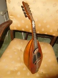 Antique mandolin from the early 1800s