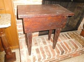 Primitive hand made table